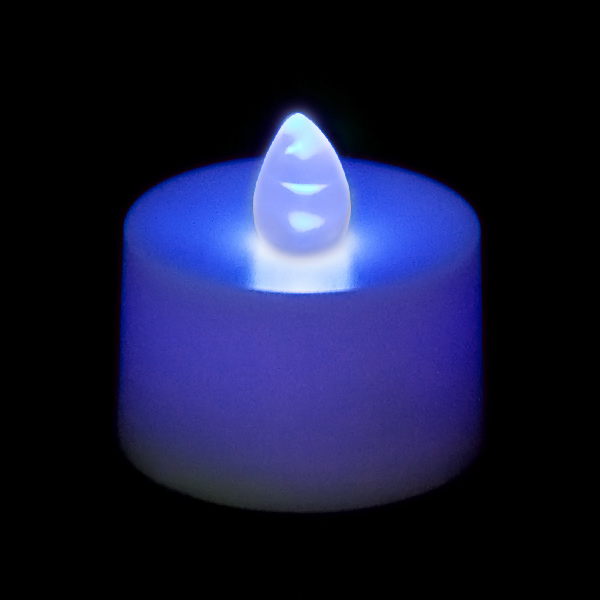 Battery Operated Tea Light Candle Blue