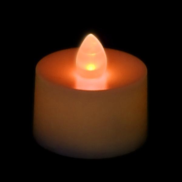 battery operated tea light candle orange. Black Bedroom Furniture Sets. Home Design Ideas