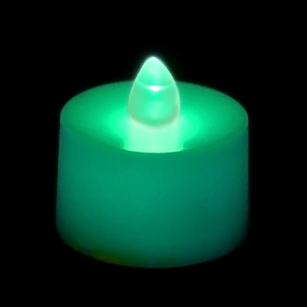 Battery Operated Tea Light Candle Teal