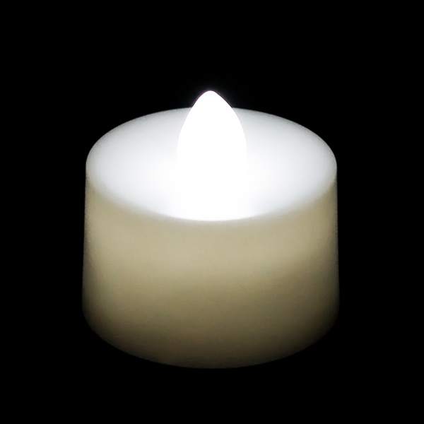 Flickering Battery Operated Tea Light Candle White