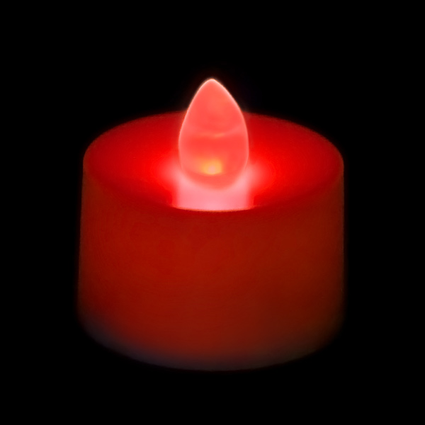 flickering battery operated tea light candle red. Black Bedroom Furniture Sets. Home Design Ideas