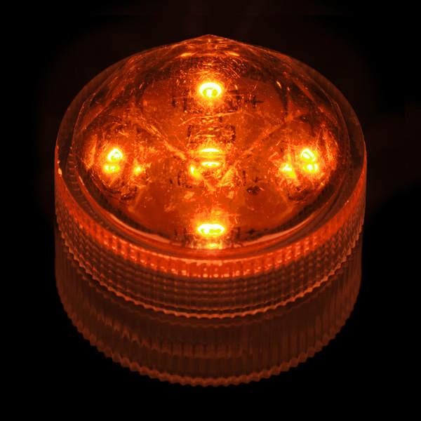 Orange Submersible Five Led Light