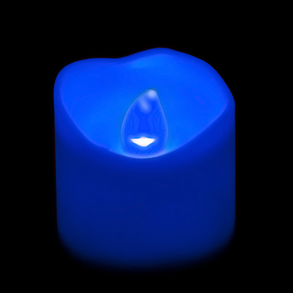Battery Operated Led Votive Candle Blue Flame