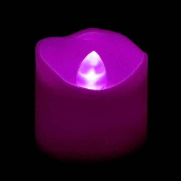 Battery Operated Led Votive Candle Purple Flame