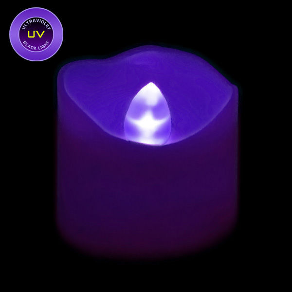 Battery Operated Led Votive Candle Uv Black Light Flame