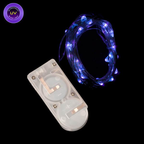 Black Light Led String Lights : 40 Micro LED UV Black Light Submersible String Light