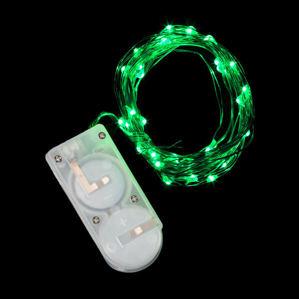 Led String Lights Micro : 40 Micro LED Green Submersible String Light