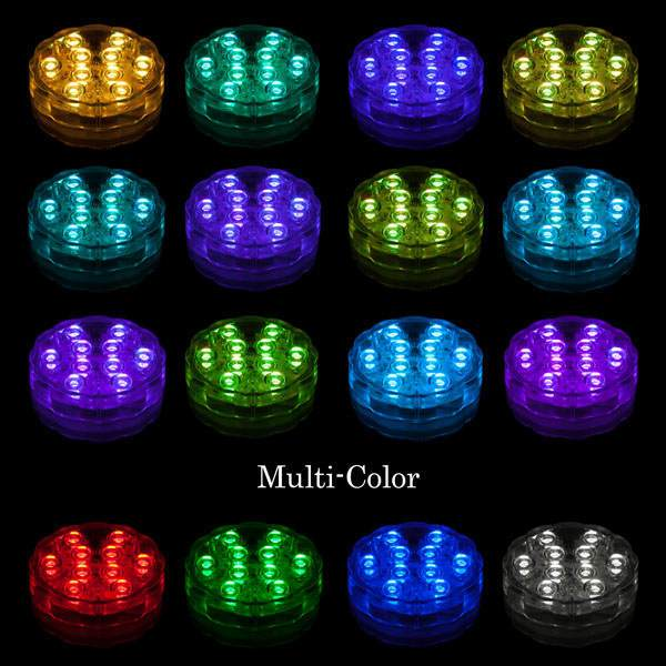 4 Pack Remote Controlled 10 LED Multi-Color Submersible Light  sc 1 st  100 Candles & Pack Remote Controlled 10 LED Multi-Color Submersible Light azcodes.com