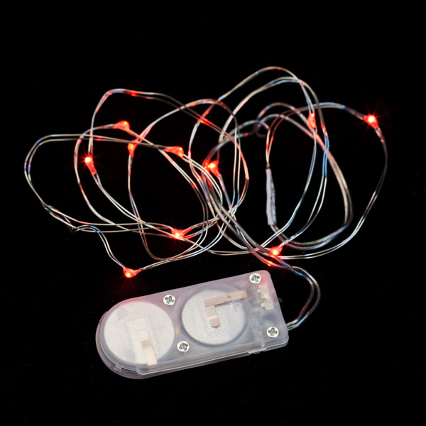 10 Micro LED Red Submersible String Light