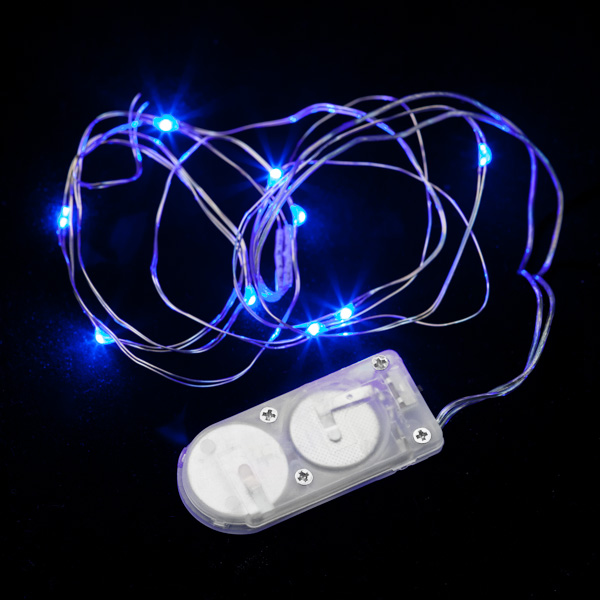 Led String Lights Micro : 10 Micro LED Blue Submersible String Light