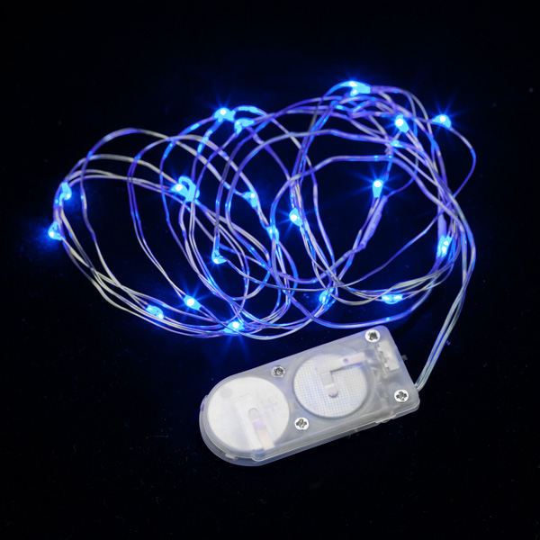 Led String Lights Micro : 20 Micro LED Blue Submersible String Light