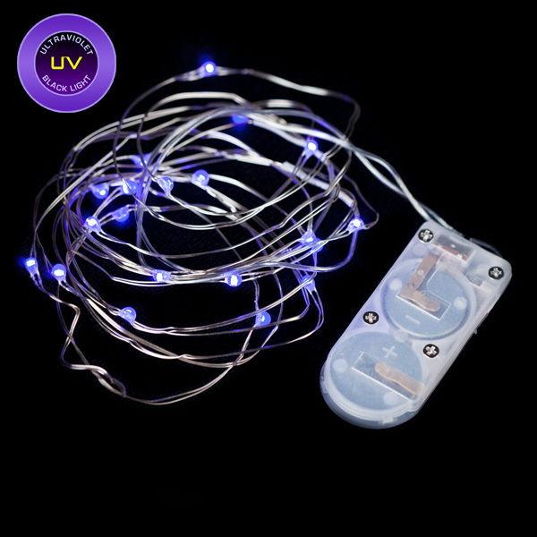 Black Light Led String Lights : 20 Micro LED UV Black Light Submersible String Light