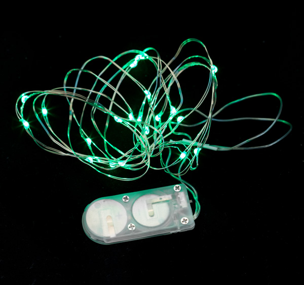 20 Micro LED Green Submersible String Light