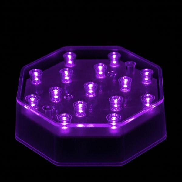 4 Inch Octagon Purple Light Base