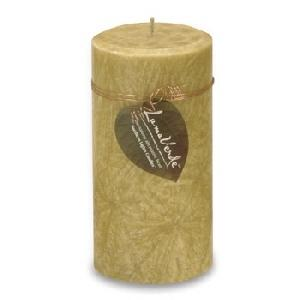 3X6 LumaVerde Pillar Candle - Amber Fields