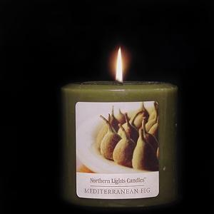 3x3 Northern Lights Pillar - Mediterranean Fig- Elegance Collection