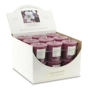 Northern Lights 18Pc. Votive Box - Plum Blossom