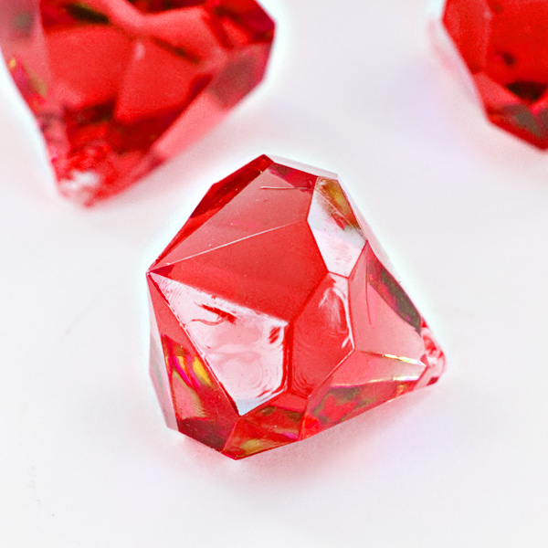 Red Acrylic Large Diamonds Decorative Gems