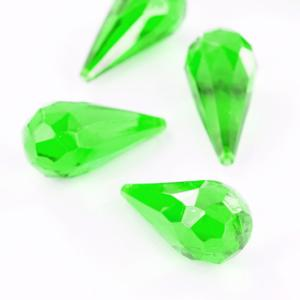 Green Acrylic Pendant Shaped Decorative Gems Goodie Bag