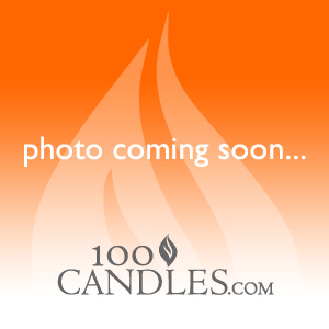 12 Inch Orange Taper Dripless Clean Burning Candle