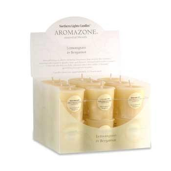 Aromazone Votive Candles - Lemongrass & Bergamot- Aromatherapy Candles