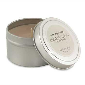 Aromatherapy Aromazone Travel Candle Tin - Sandalwood & Patchouli