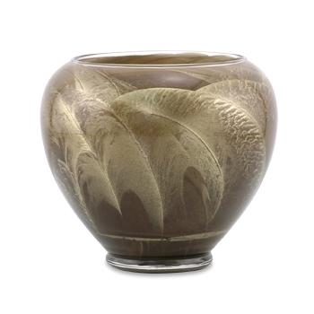 6 Inch Polished Candle Esque Vase - Taupe - Candle Gift