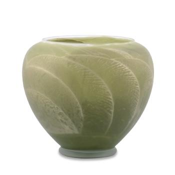 6 Inch Frosted Candle Esque Vase - Sage