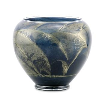 6 Inch Polished Candle Esque Vase - Dusty Blue