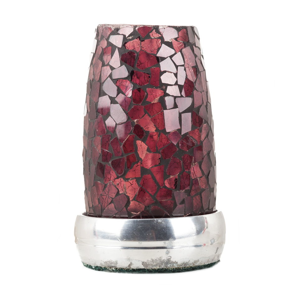 Vintage Purple Glass Mosaic Candle Holder