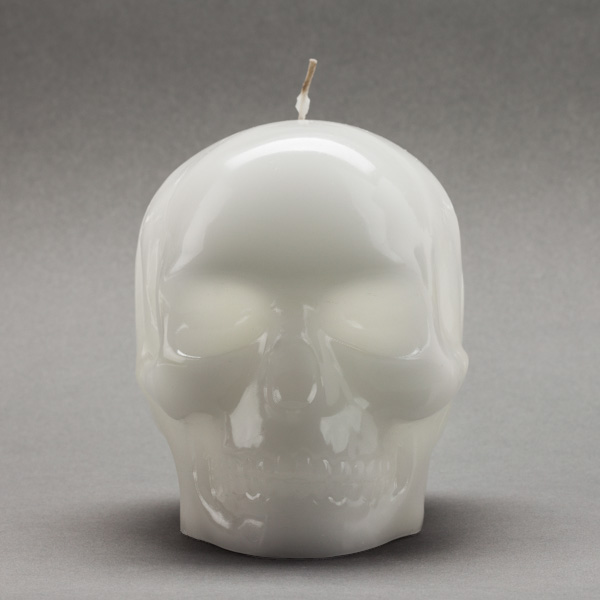large white skull candles