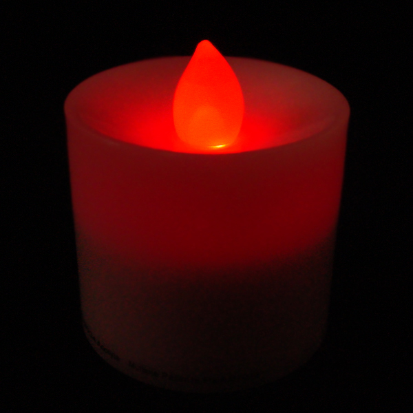 acolyte led votive red flicker battery operated candle with on off