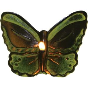 Floating Green Birdswing Butterfly Candle