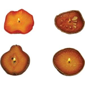 Floating Dried Fruit Candles - Apple, Orange, Lemon And Pear