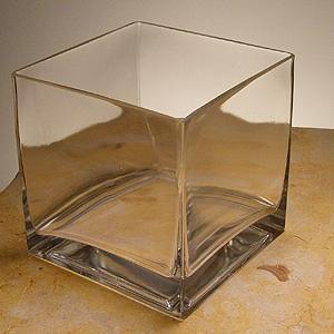 5X5X5 Clear Square Vase - Glass Container