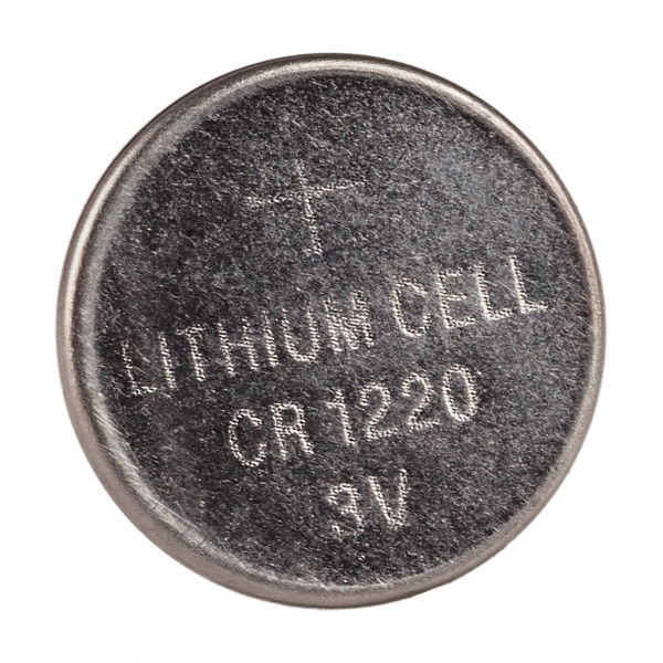 High End Batteries Model Cr1220 3 Volts Lithium Button Cell Battery