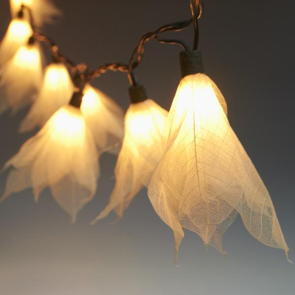 9ft Tropical Flower Lights String Lights Natural White 110v Ac