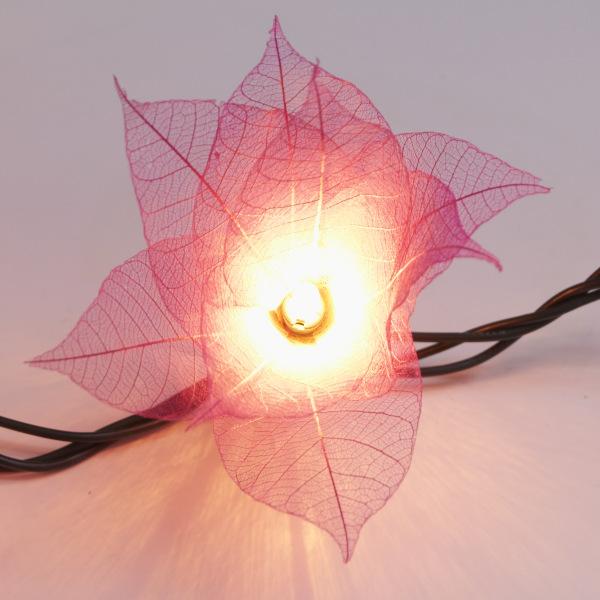 9ft tropical flower lights 110v ac string lights pink natural white mightylinksfo
