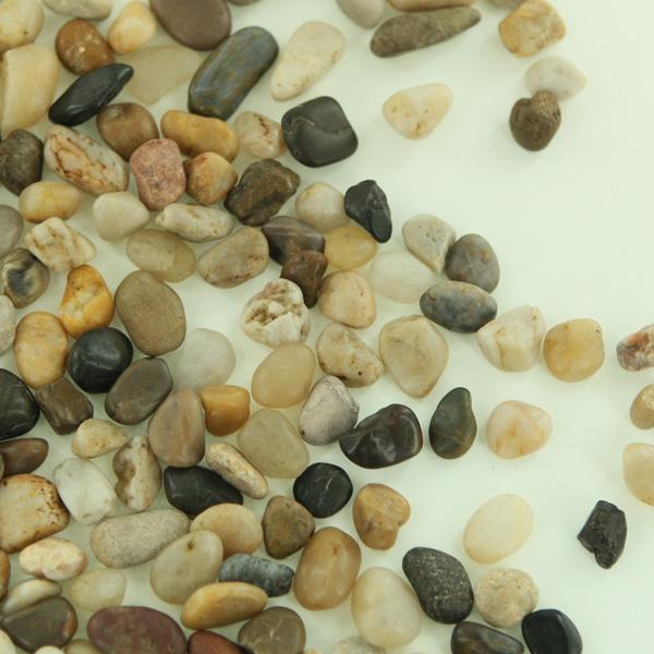Small river rock natural mixed colors decorative stone for Decorative river stones