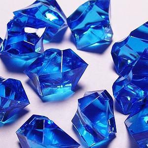 Cups blue acrylic crushed ice decorative gems