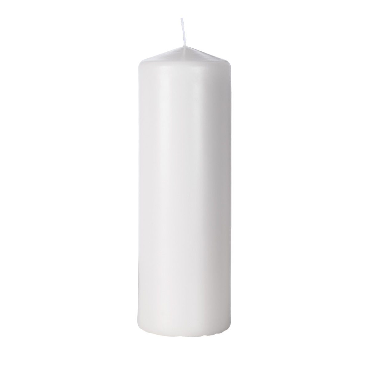 3x9 Unscented Pure White Pillar Candle