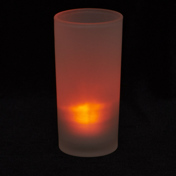 Tall Frosted Glass Votive Holder