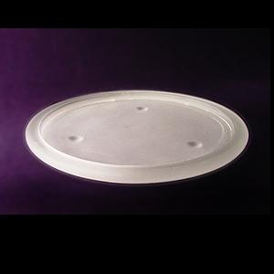 8Inch Round Pillar Base Candle Tray With Peg Legs- Frosted Glass