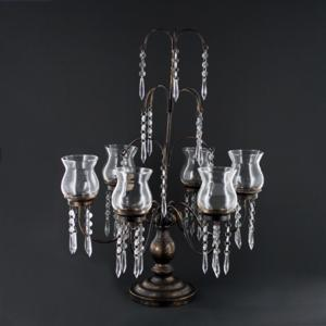 The Six Of Cups Hanging Bead Fountain Votive Candle Candelabra