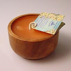 Beeswax Monkey Bowl Hawaiian Coconut Candle Passionfruit Scented
