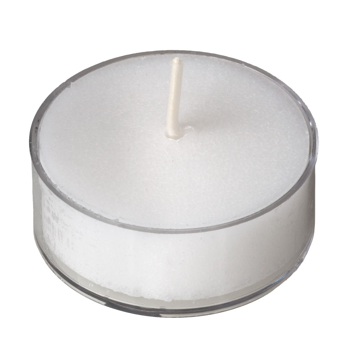 White Tealight Candles In A Clear Cup