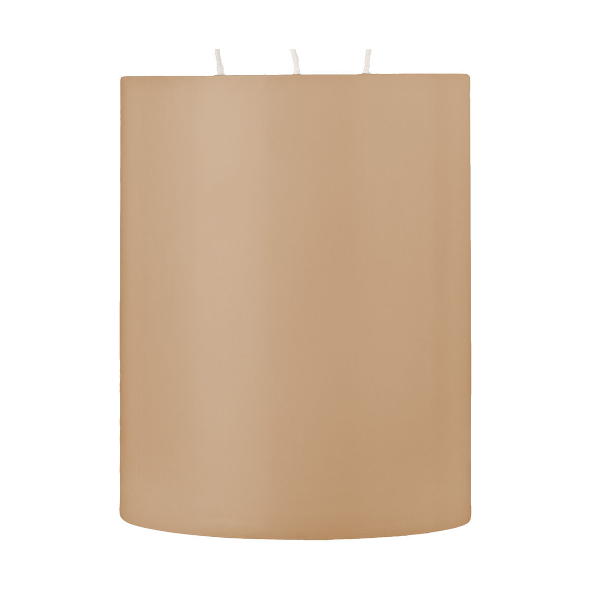 5x6 Shell Off White 3 Wick Pillar Candle