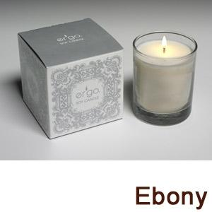 Ergo Soy Candle Pearl Collection- 7Oz Candle In Frosted Glass- Ebony
