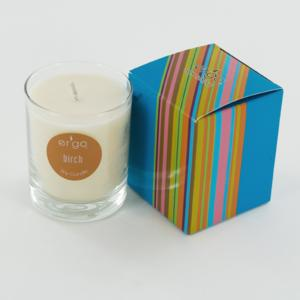Ergo Soy Candle Spectrum Collection- 7Oz Candle In Clear Glass- Birch