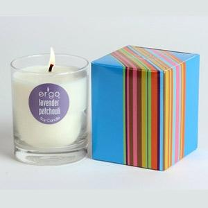 Ergo Soy Candle Spectrum- 7Oz Candle In Clear Glass Lavender Patchouli